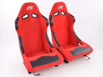 Set Sportskih sjedala Basic tkanina crvena
