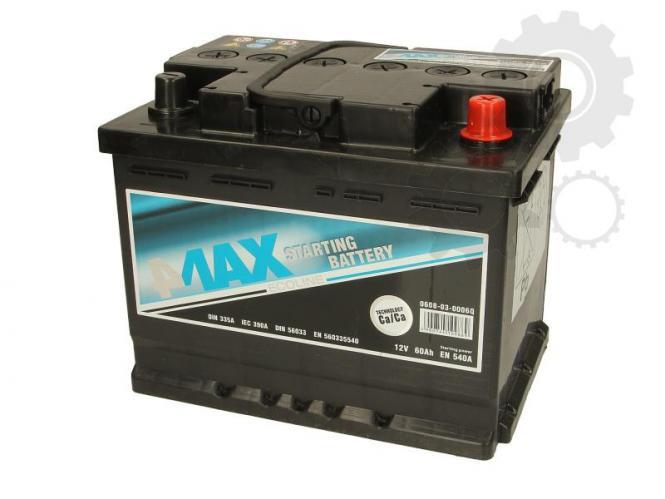 Akumulator 4MAX 12V 60 Ah  540A D+